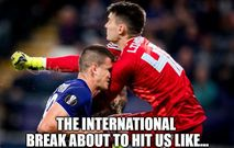 International break memes
